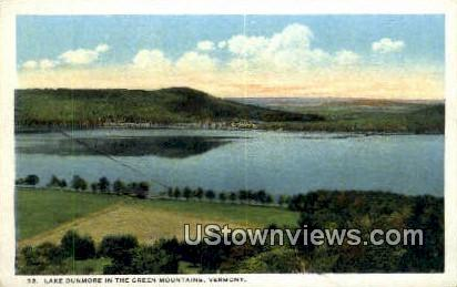 Lake Dunmore - Green Mountains, Vermont VT Postcard