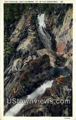 The Cascade, Lake Dunmore4 - Green Mountains, Vermont VT Postcard