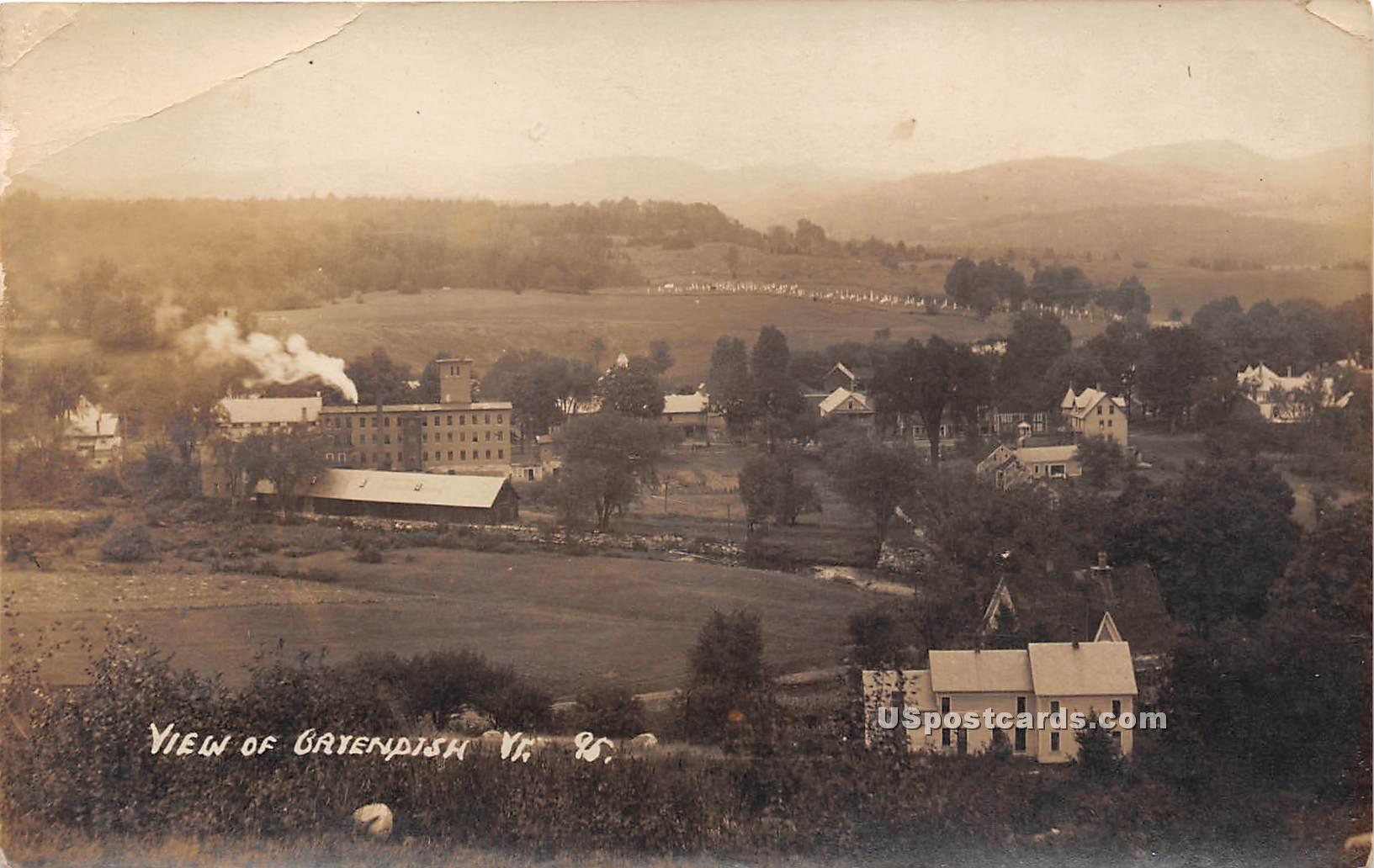 Birdseye View - Gayendish, Vermont VT Postcard