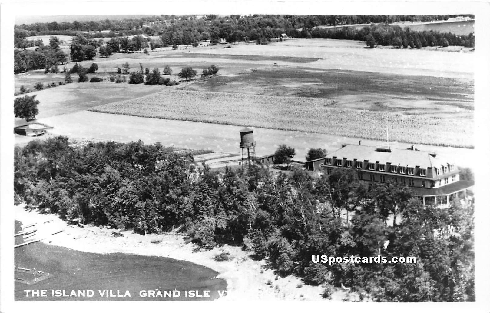 Island Villa - Grand Isle, Vermont VT Postcard