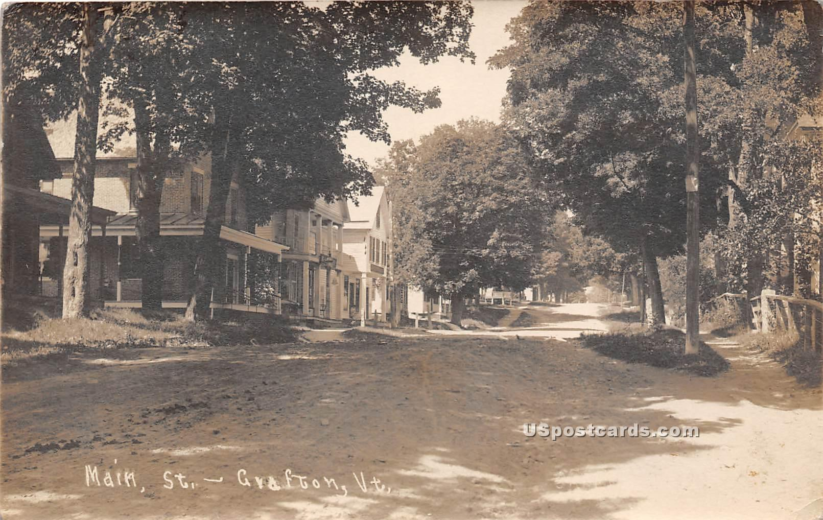 Main Street - Grafton, Vermont VT Postcard