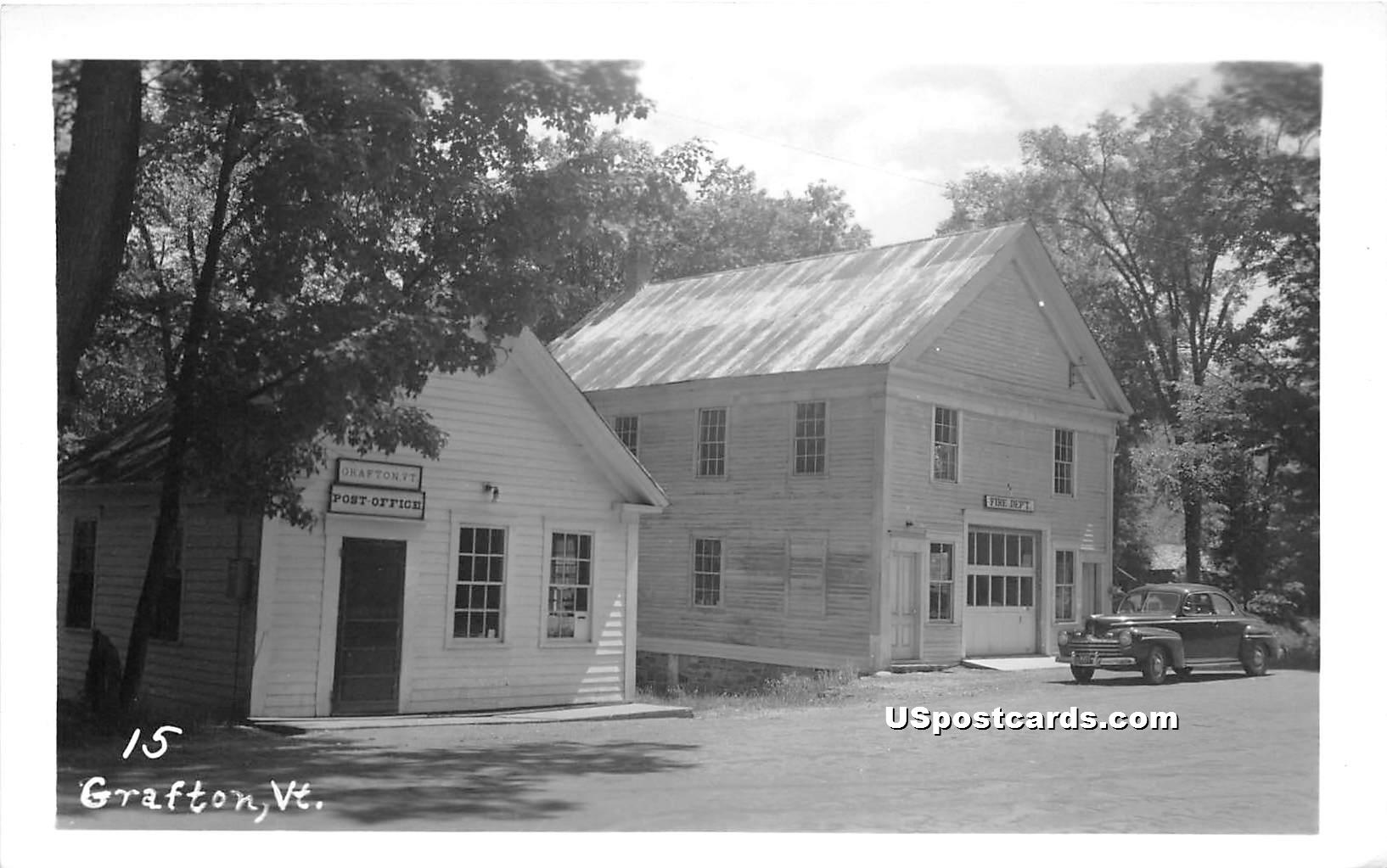 Post Office - Grafton, Vermont VT Postcard