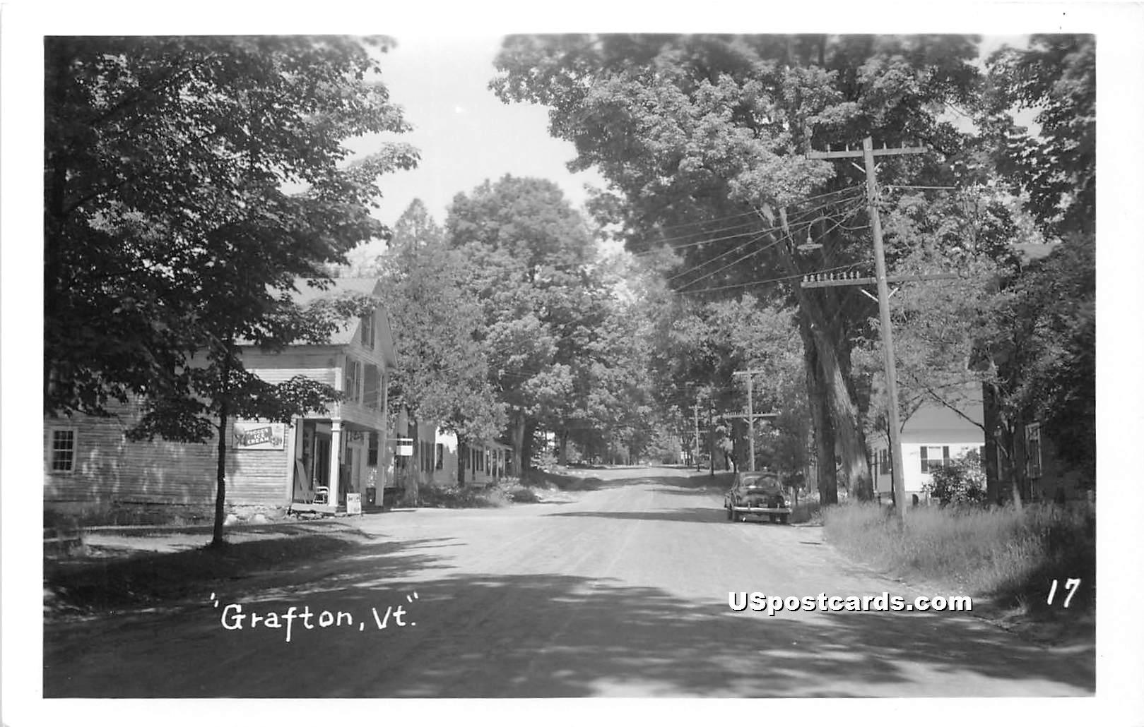 Street Scene - Grafton, Vermont VT Postcard