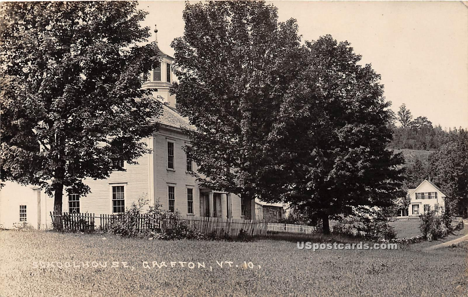 School House - Grafton, Vermont VT Postcard