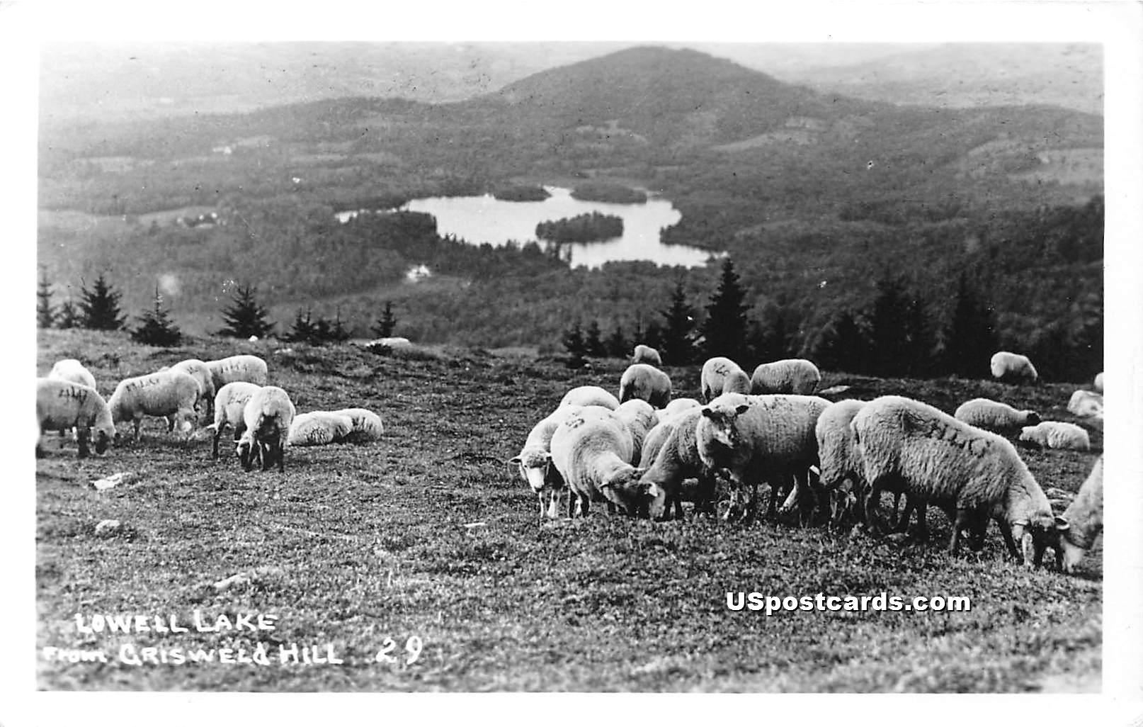 Lowell Lake - Grisweld Hill, Vermont VT Postcard