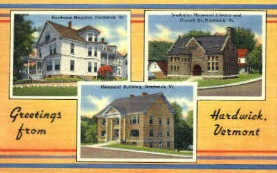 Hardwick Hospital - Vermont VT Postcard