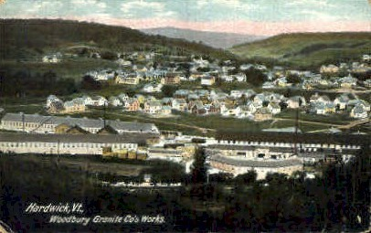 Woodbury Granite Company  - Hardwick, Vermont VT Postcard