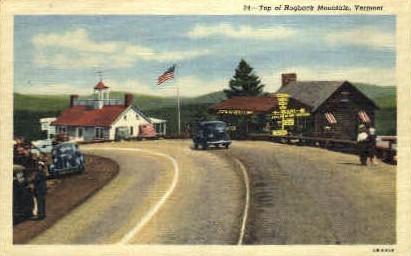 Top - Hogback Mountain, Vermont VT Postcard
