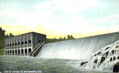 Dam - Vernon, Vermont VT Postcard