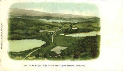 Fourteen Mile Drive - Hyde Manor, Vermont VT Postcard