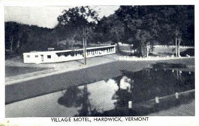 Village Motel - Hardwick, Vermont VT Postcard