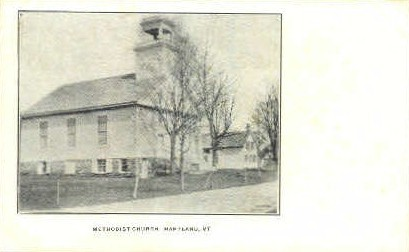 Methodist Church - Hartland, Vermont VT Postcard