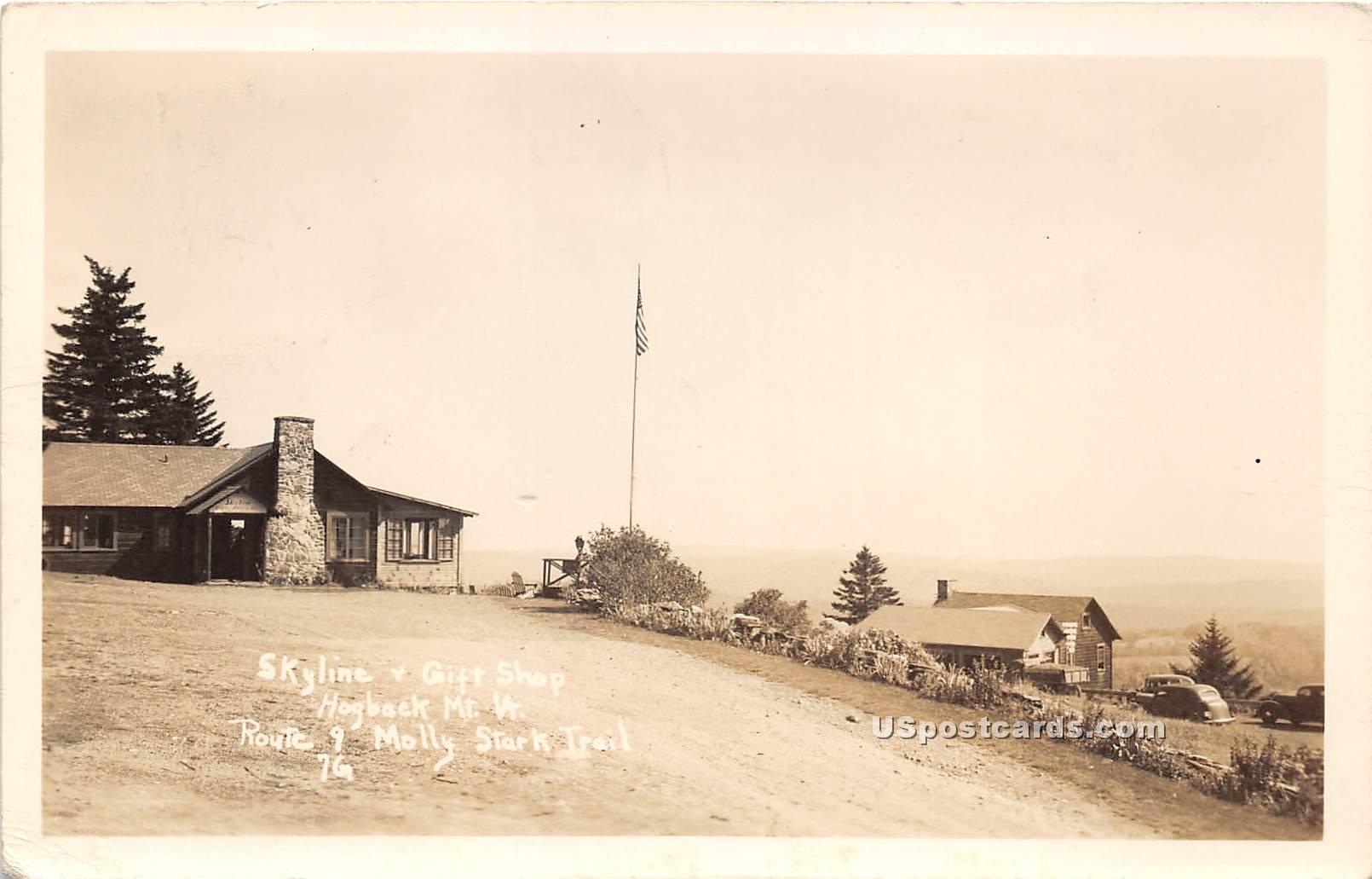 Gift Shop - Hogback Mountain, Vermont VT Postcard