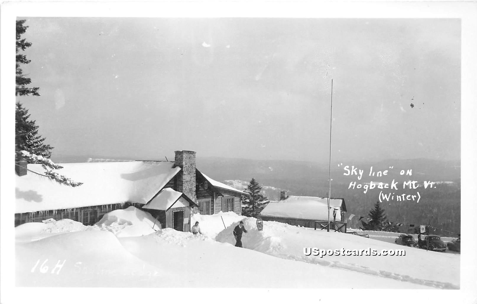 Skyline - Hogback Mountain, Vermont VT Postcard