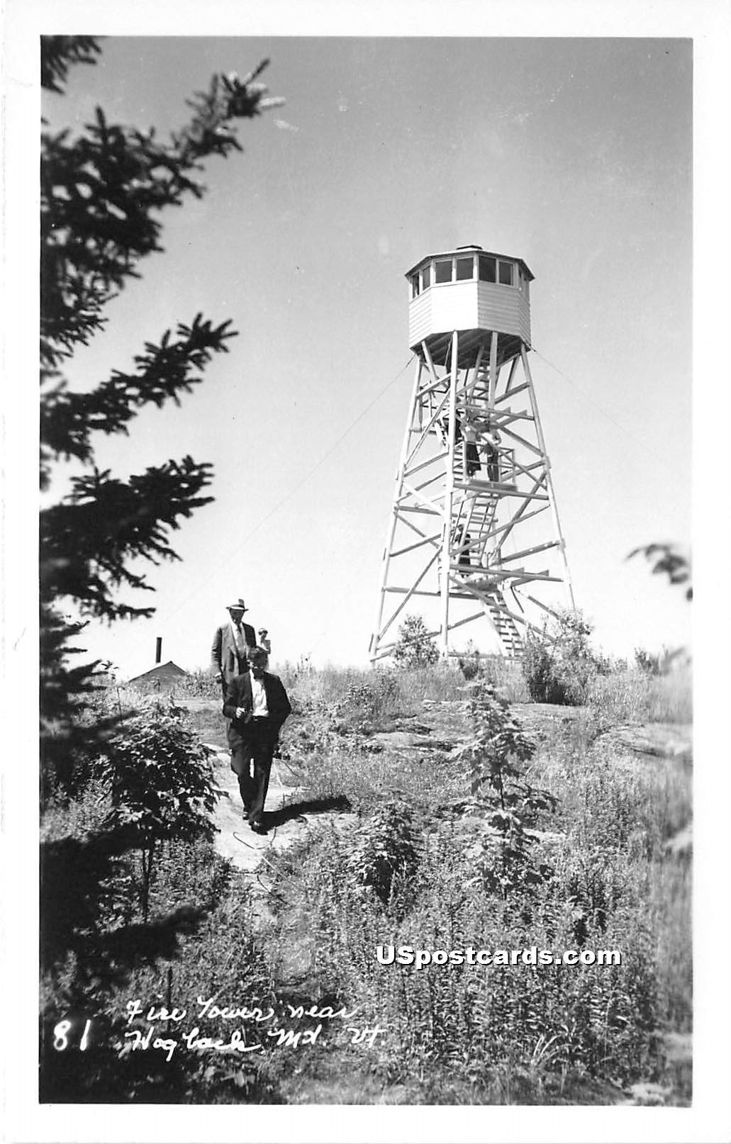 Fire Tower - Hogback Mountain, Vermont VT Postcard