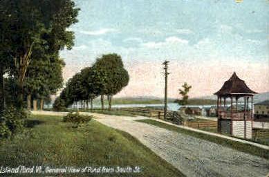 Island Pond - Vermont VT Postcard