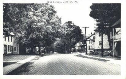 Main Street - Jamaice, Vermont VT Postcard