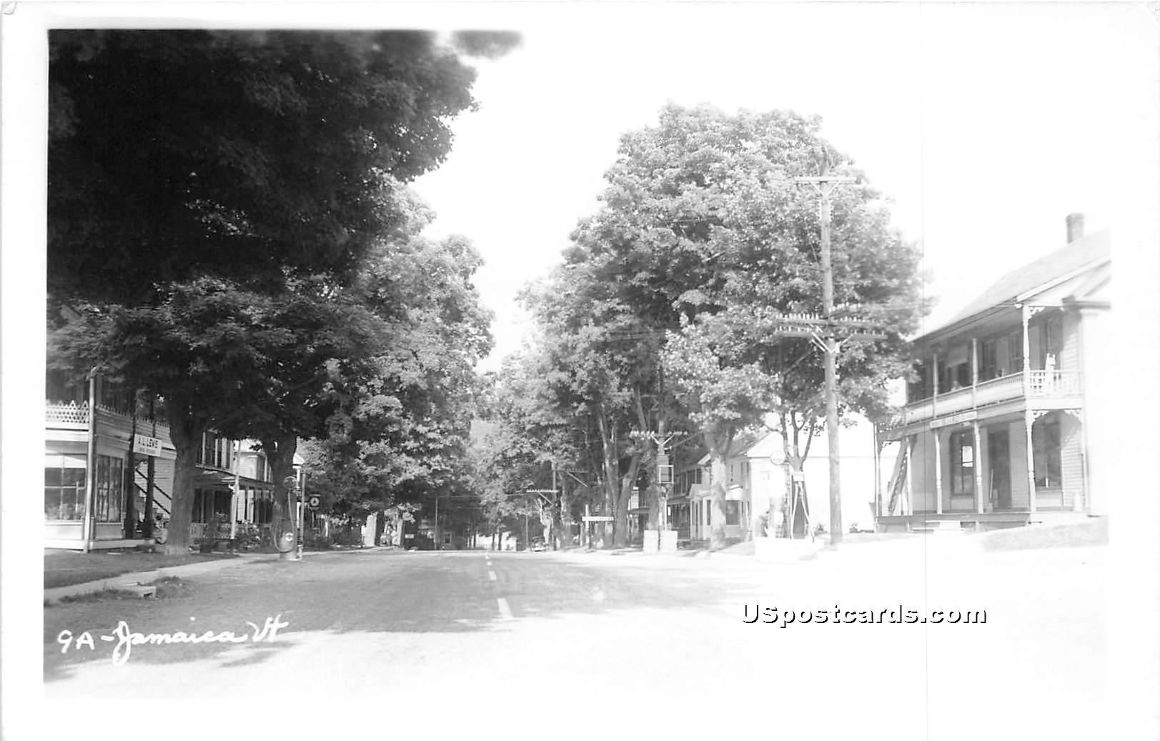 Street Scene - Jamaica, Vermont VT Postcard