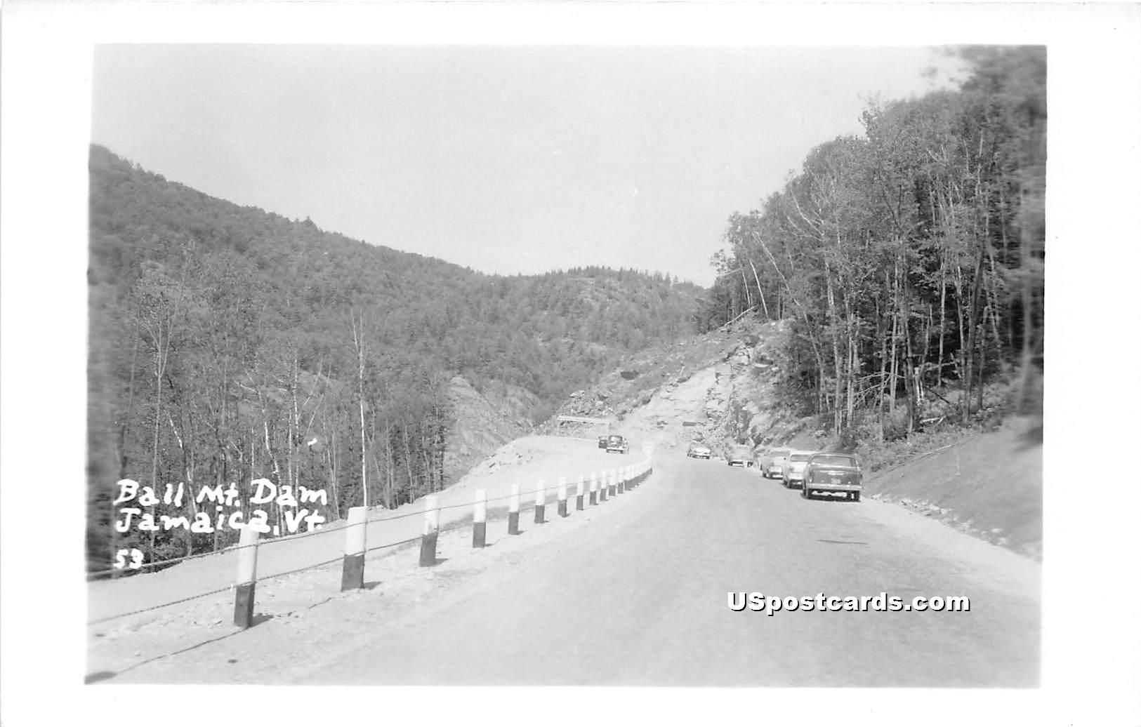 Ball Mountain Dam - Jamaica, Vermont VT Postcard