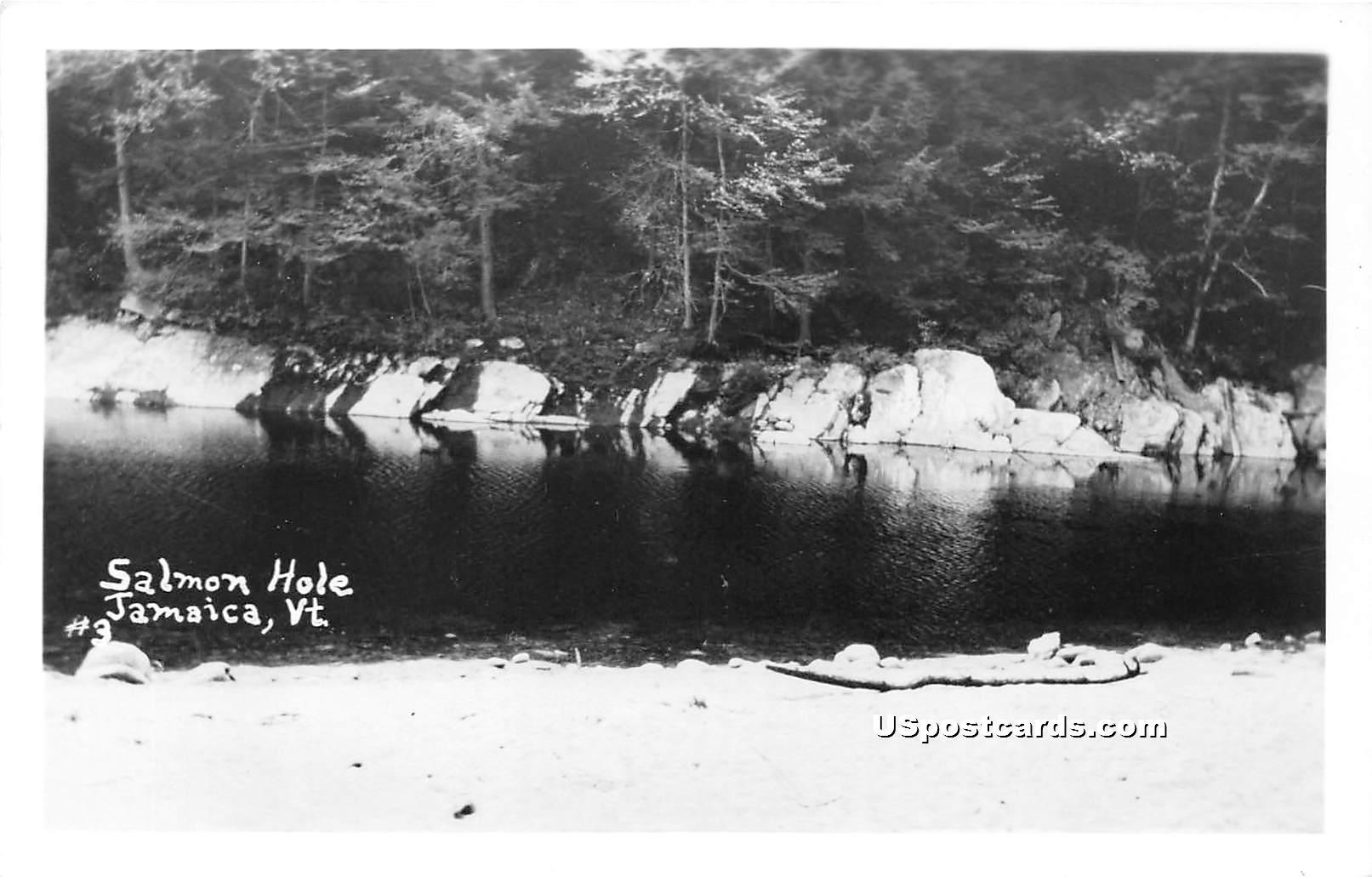 Salmon Hole - Jamaica, Vermont VT Postcard