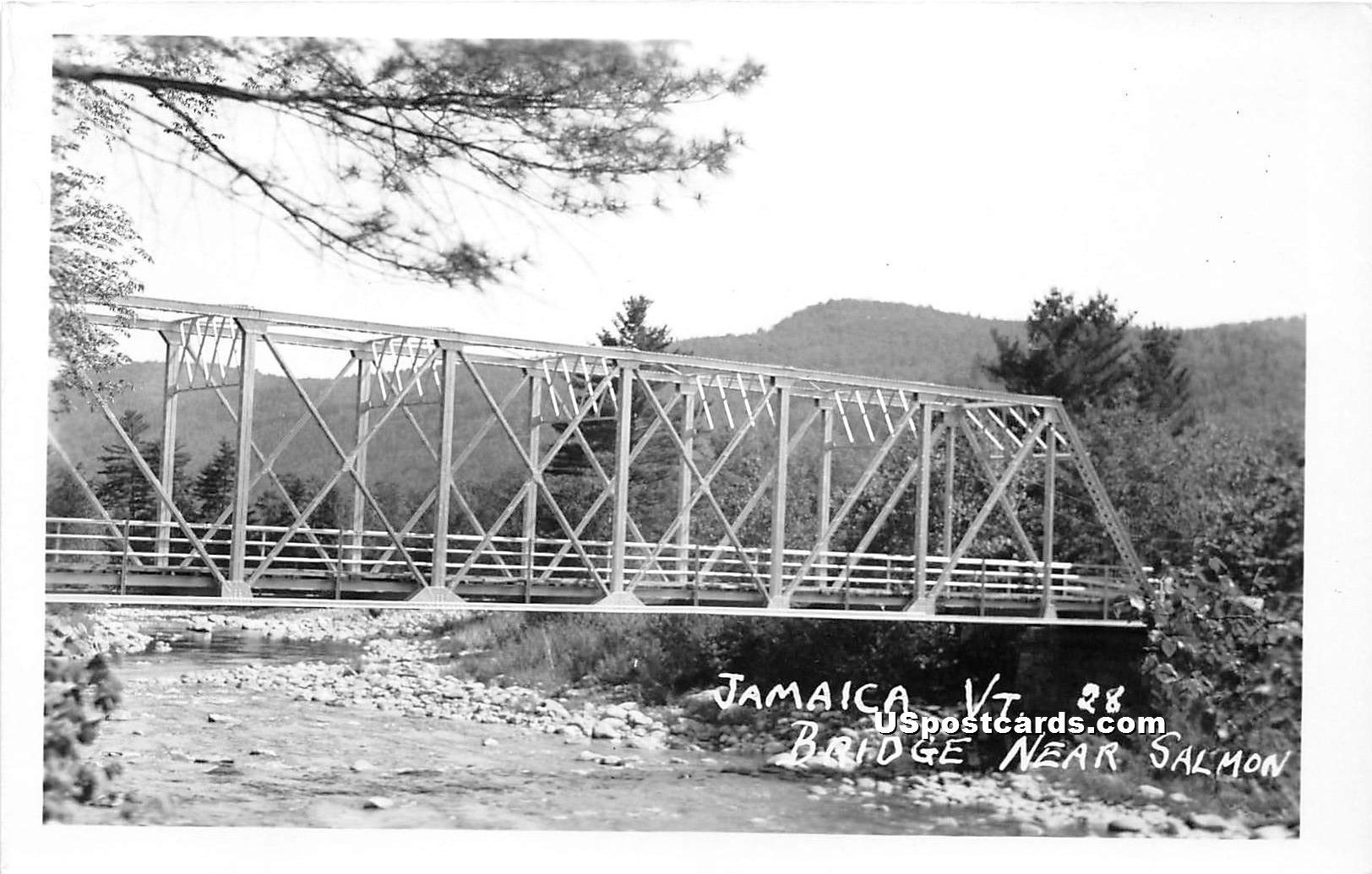 Bridge - Jamaica, Vermont VT Postcard