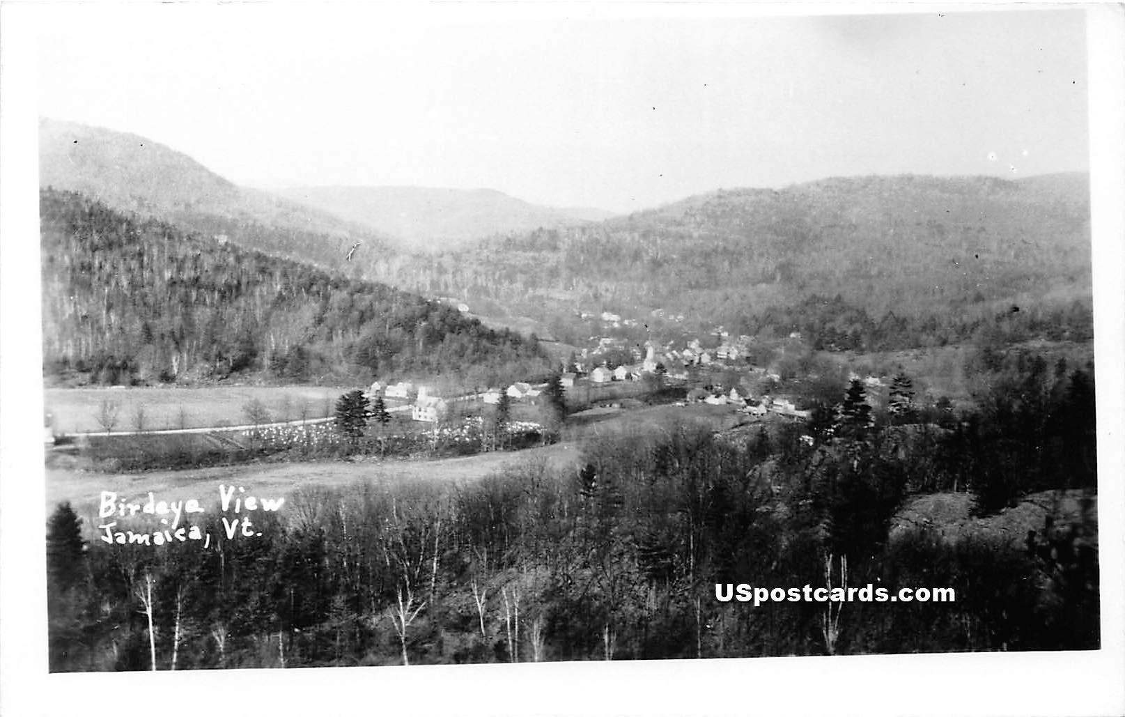 Birdseye View - Jamaica, Vermont VT Postcard
