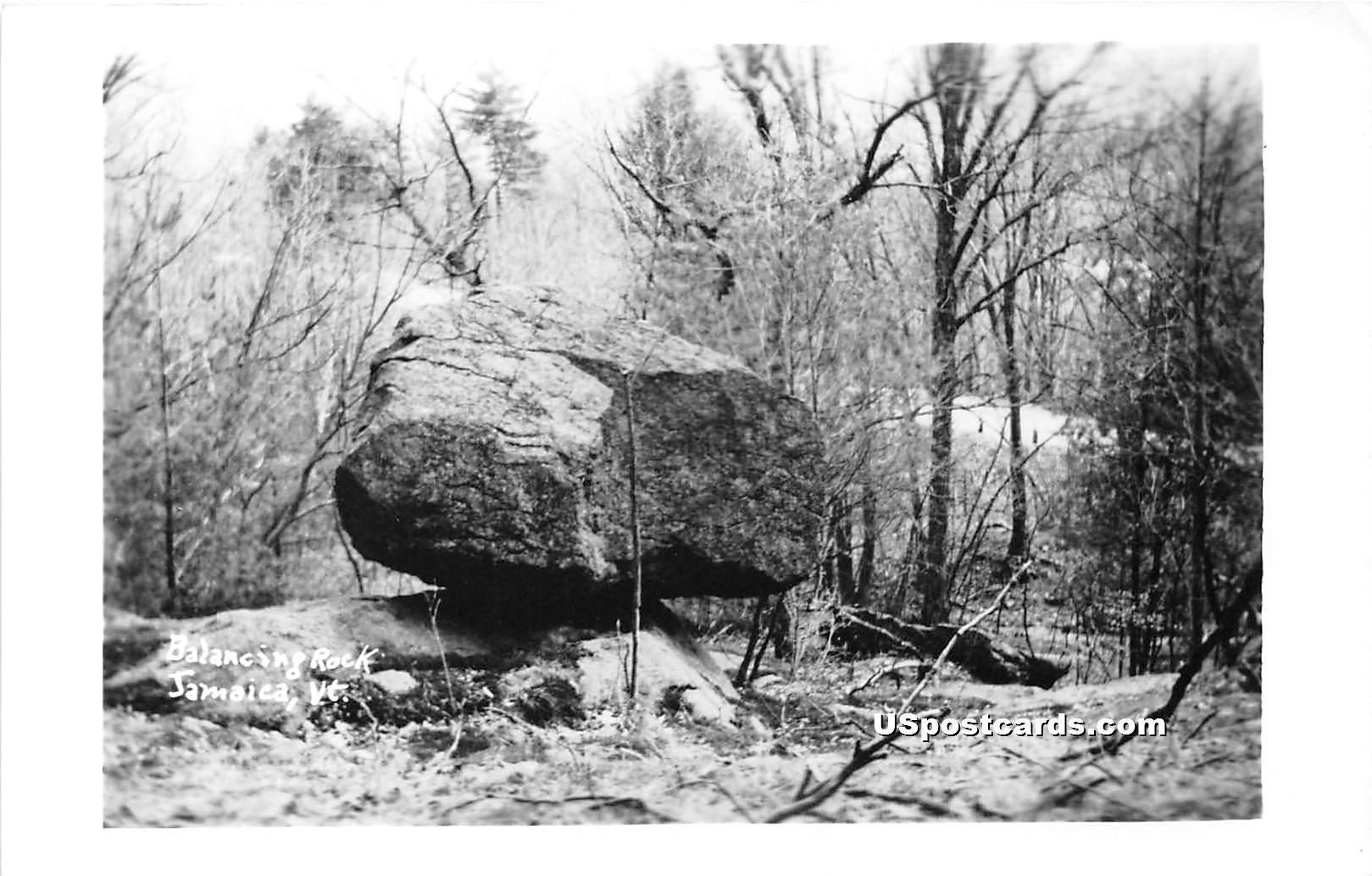Balancing Rock - Jamaica, Vermont VT Postcard