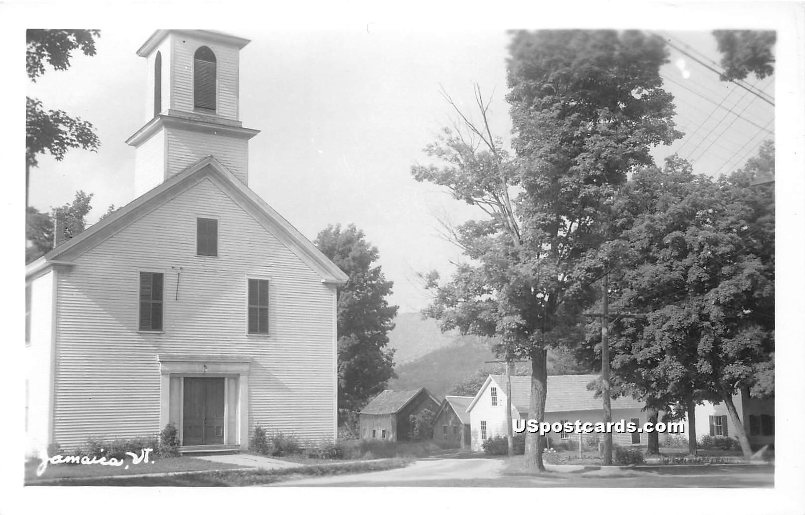 Church - Jamaica, Vermont VT Postcard