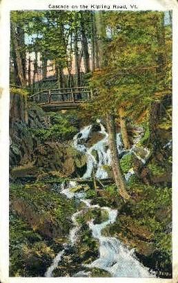 Cascade - Kipling Road, Vermont VT Postcard