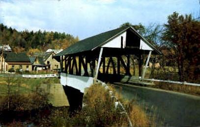 Old Covered Bridge - Lyndon, Vermont VT Postcard