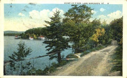 Point of Pines - Lake Bomoseen, Vermont VT Postcard