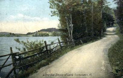 Shore - Lake Bomoseen, Vermont VT Postcard