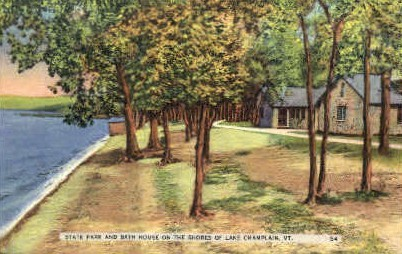 State Park - Lake Champlain, Vermont VT Postcard