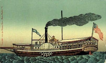 Steamboat - Lake Champlain, Vermont VT Postcard