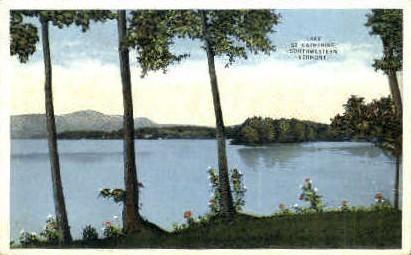Lake - Lake St Catherine, Vermont VT Postcard
