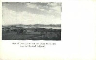 Rutland Railroad - Lake Champlain, Vermont VT Postcard