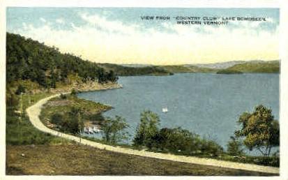 Country Club - Lake Bomoseen, Vermont VT Postcard