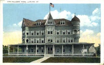 Odd Fellows Home - Ludlow, Vermont VT Postcard