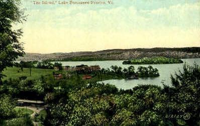 The Island - Lake Bomoseen, Vermont VT Postcard