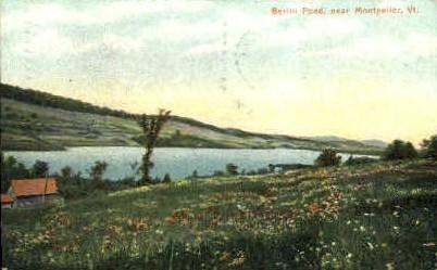 Berlin Pond - Montpelier, Vermont VT Postcard