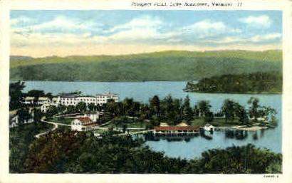 Prospect Point - Lake Bomoseen, Vermont VT Postcard