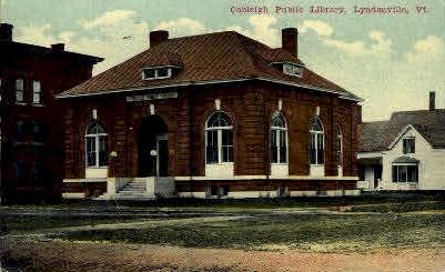 Cobleigh Public Library - Lyndonville, Vermont VT Postcard