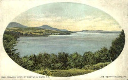 Boston & Maine R.R. - Lake Memphremagog, Vermont VT Postcard