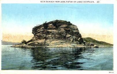 Rock Dunder - Lake Champlain, Vermont VT Postcard