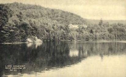 Lake Amherst - Ludlow, Vermont VT Postcard