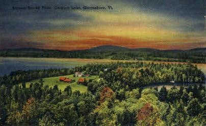 Blacks Point - Caspian, Vermont VT Postcard