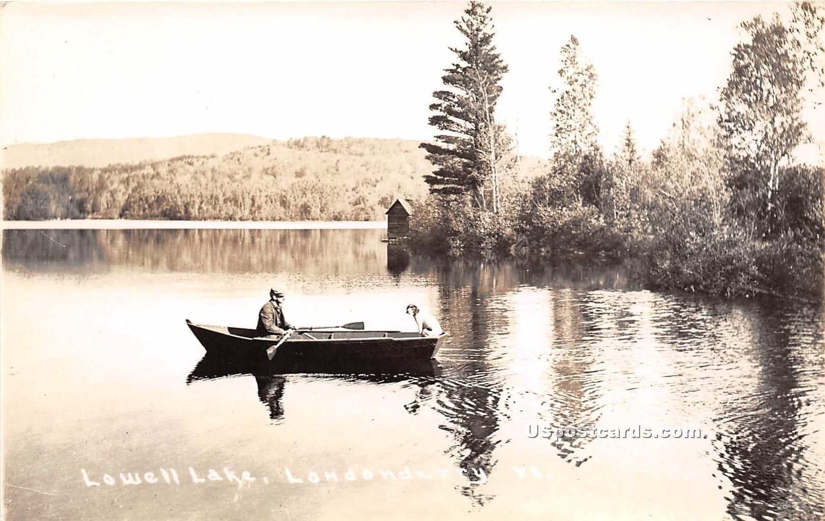 Lowell Lake - Londonderry, Vermont VT Postcard