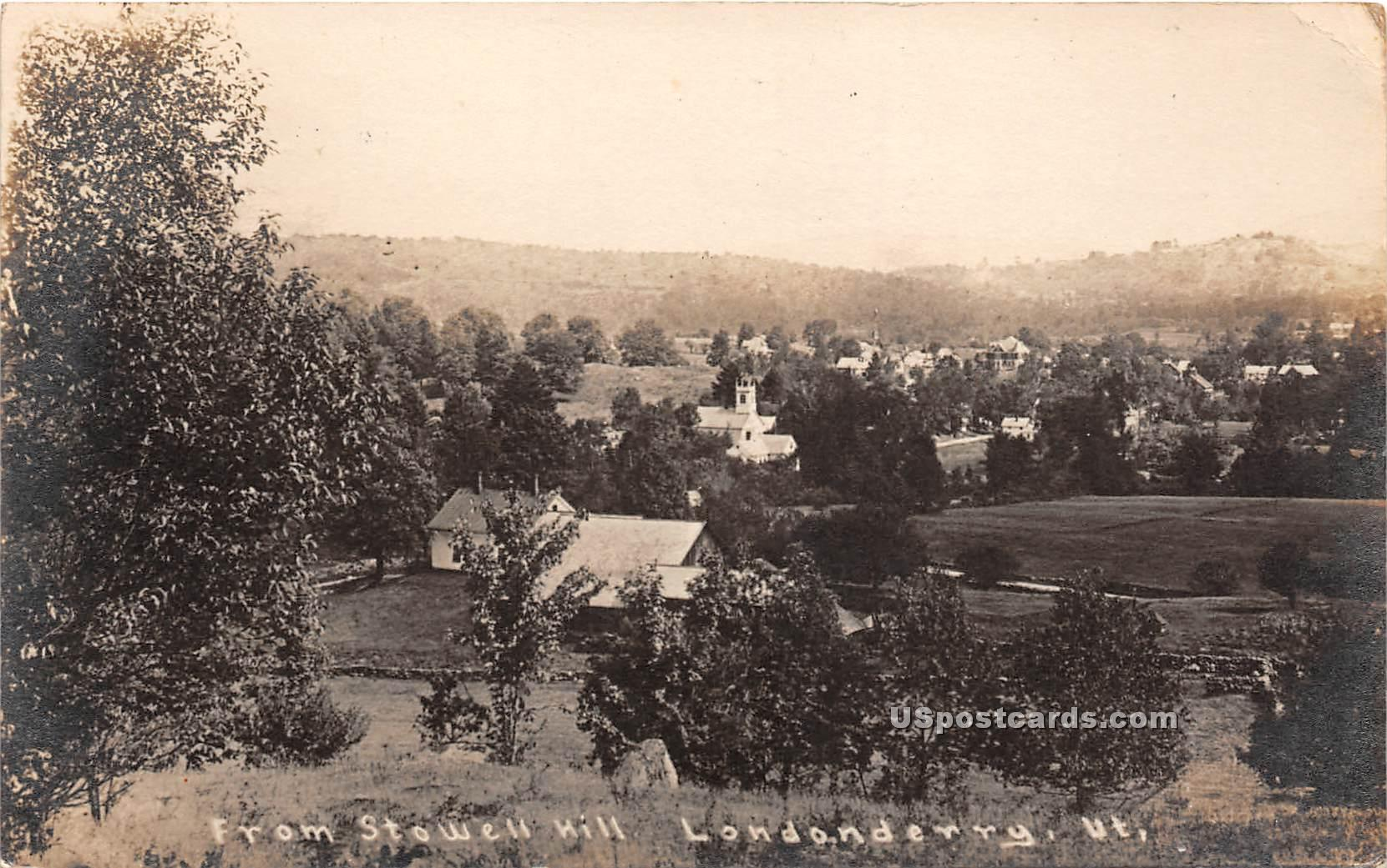 Stowell Hill - Londonderry, Vermont VT Postcard