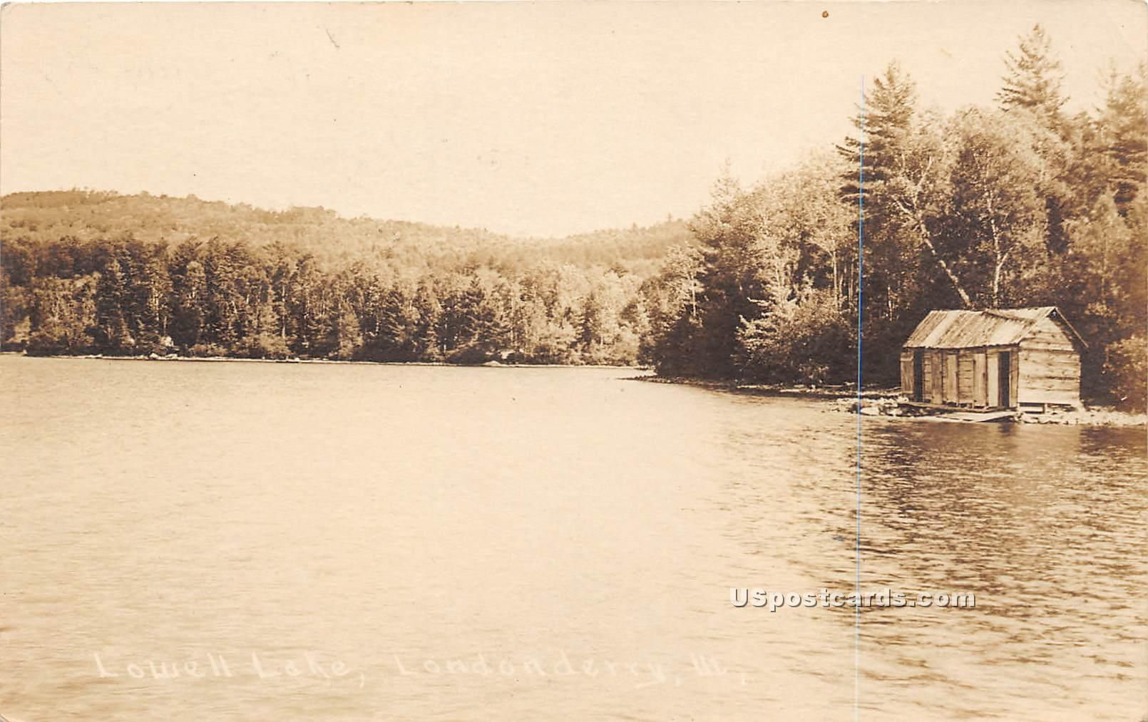 Lowell Lake - Londonderry, Vermont VT Postcard
