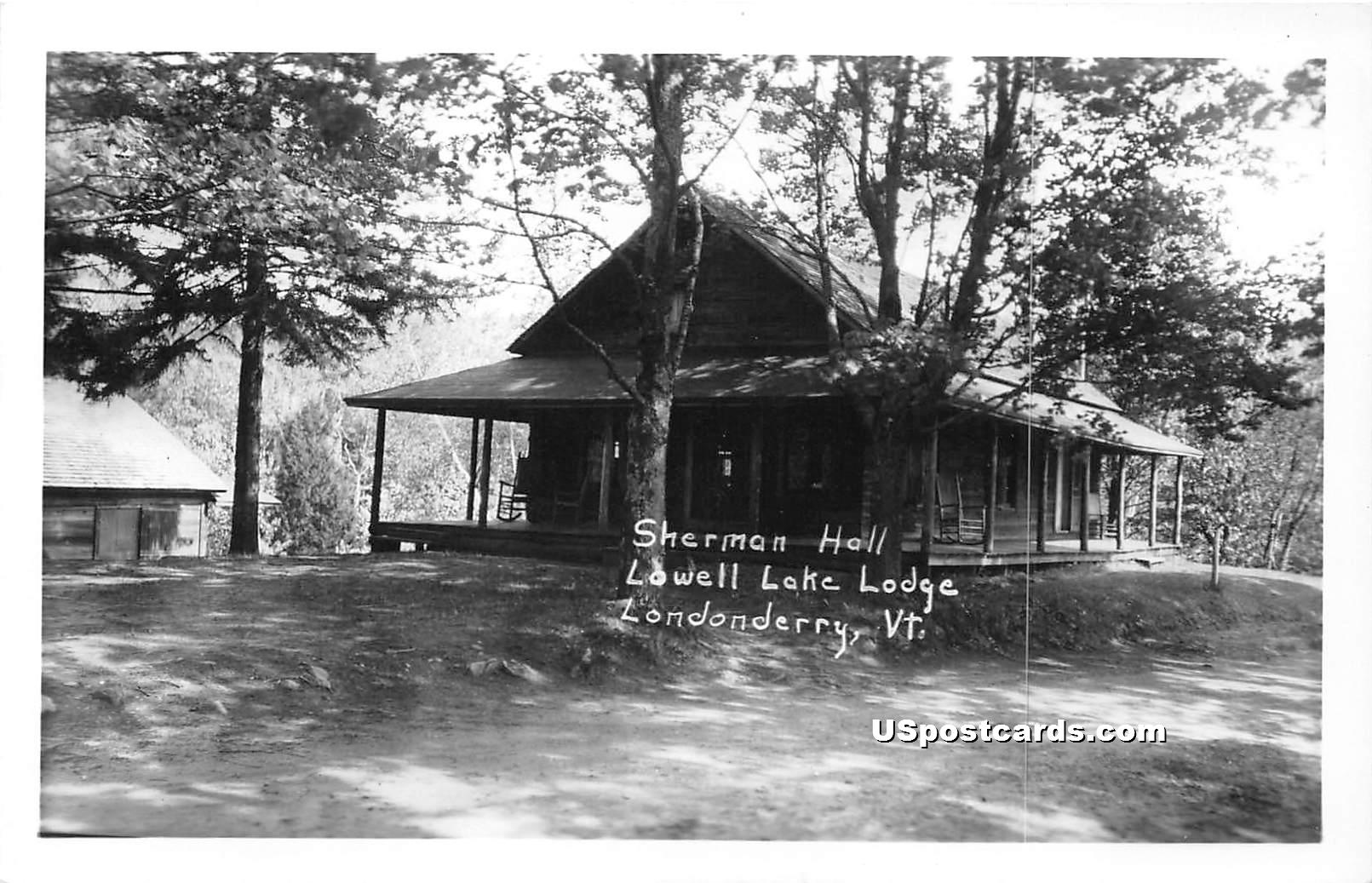 Lowell Lake Lodge - Londonderry, Vermont VT Postcard